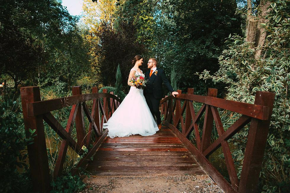 The Mill Barns - bride & groom