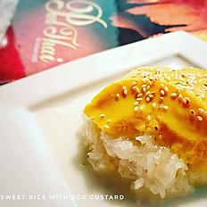 Sweet rice with egg custard