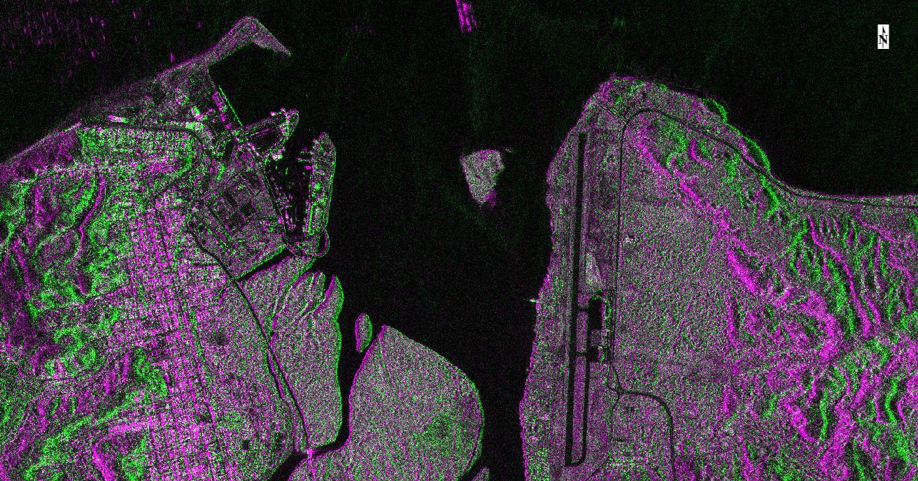 Imagen SAR (VHR) composición de color Esmeraldas