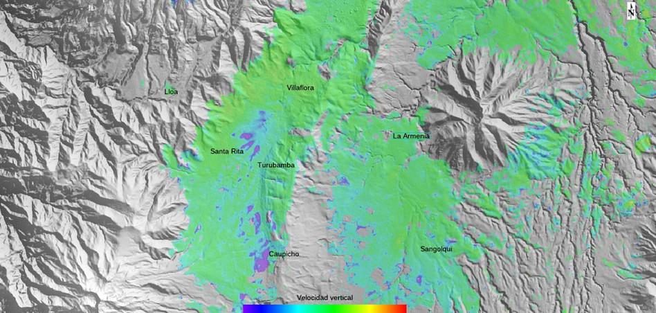 Deformación del terreno subsidencias Sur de Quito