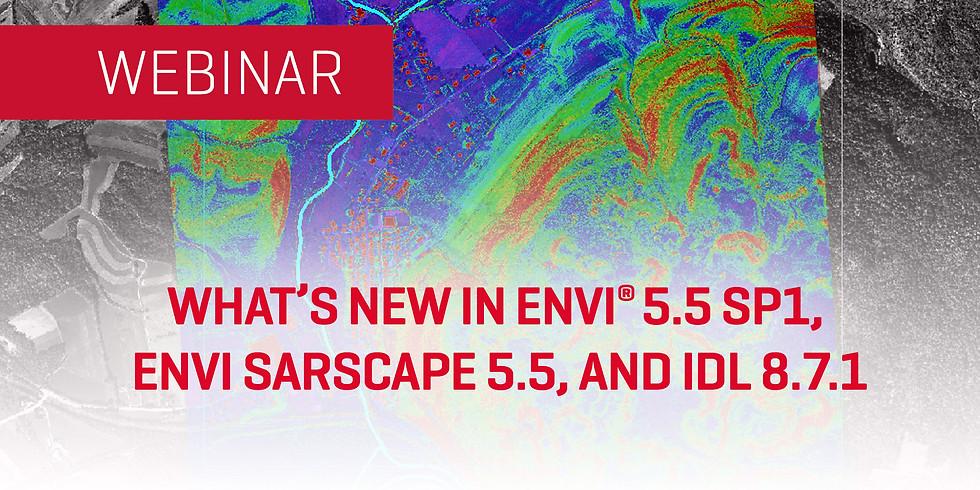 Webinar Lo nuevo de ENVI 5.5 SP1, ENVI SARscape 5.5, e IDL 8.7.1