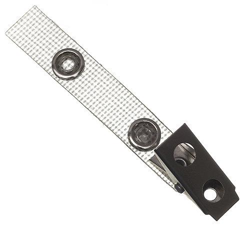 Amiclip metall mit textilverstärkter Lasche und Druckknopf