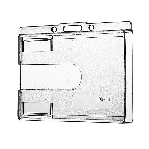 Kartenhalter geschlossen transparent mit Daumenausschub