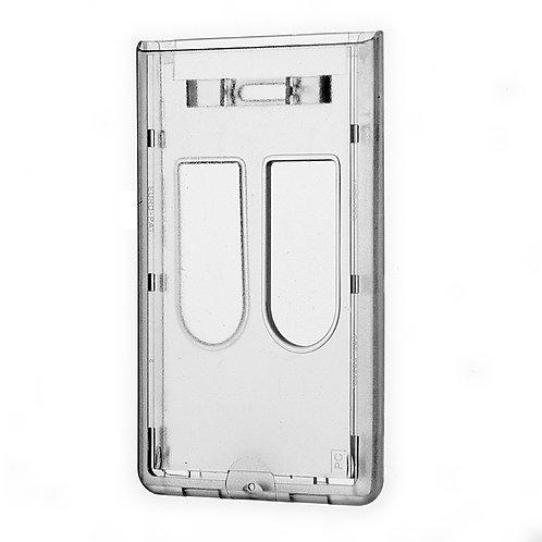 Kartenhalter Doppelbox vertikal mit 2 Daumenausschüben -50 Stück
