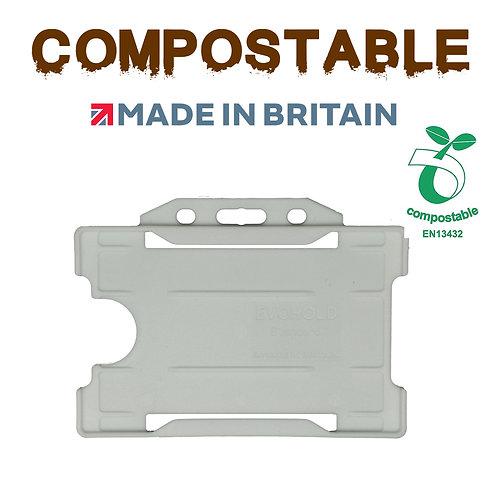 Kompostierbarer Kartenhalter horizontal offen (100 Stück pro Packung
