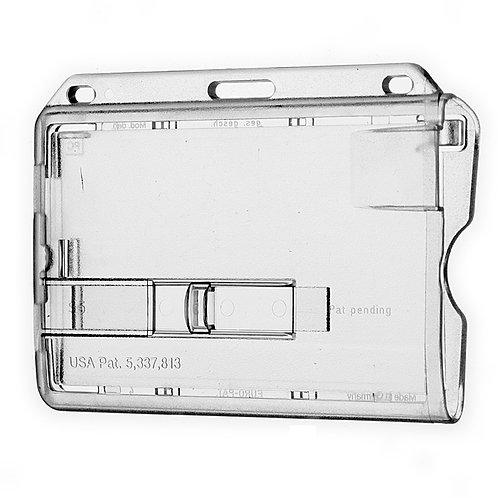 Kartenhalter mit transparentem Schieber - 50 Stück