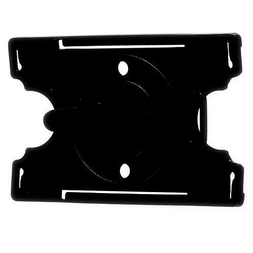 Kartenhalter schwarz mit drehbarem Rückenclip - 50 Stück