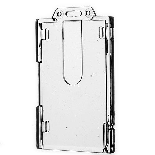 Kartenhalter Doppelbox vertikal für bis zu 2 Karten - 50 Stück