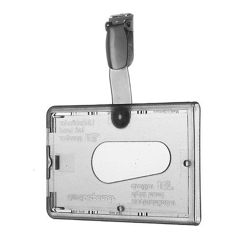 Kartenhalter mit Daumenausschub und Andruckpin - 50 Stück