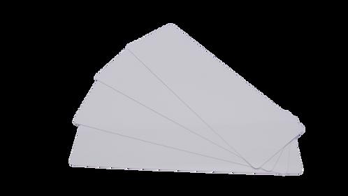 Plastikkarten weiß 140 x 50 mm (100 Stück)