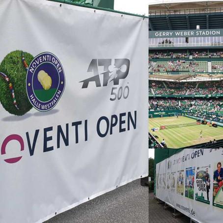 Akkreditierung für Tennisturnier in Halle