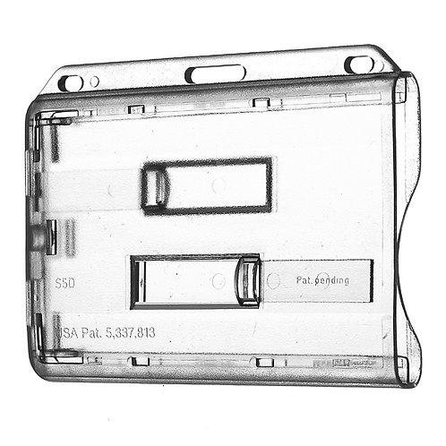Kartenhalter Doppelbox horizontal mit 2 Schiebern - 50 Stück