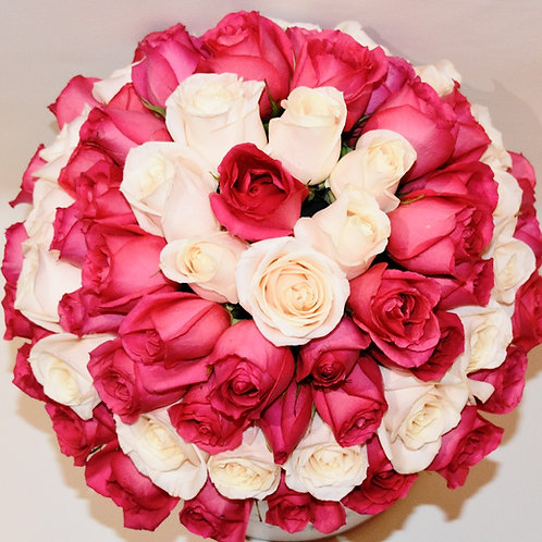Deluxe Large Box - Pink & White Roses