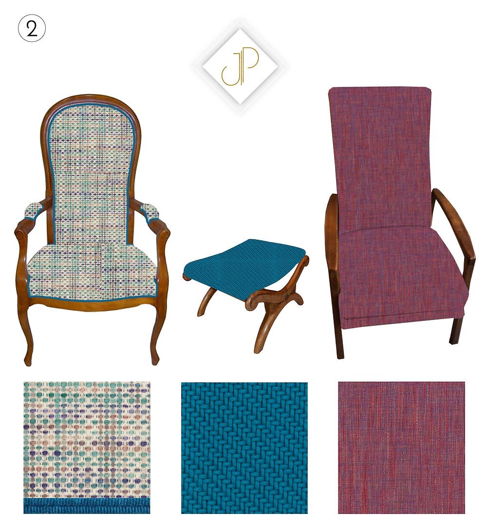 fauteuil, tapissier yvelines, chatou, Le pecq, Le Vésinet, Port Marly, J.P Manufacture