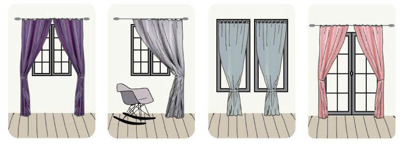 Idées utilisations embrasses par J.P Manufacture tapissier décoratrice 78