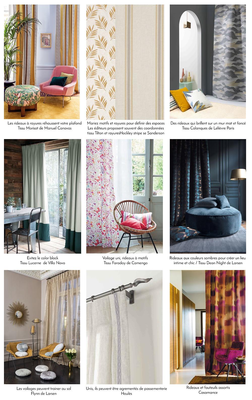 Exemples, conseils déco, par J.P manufacture tapissier décoratrice 78