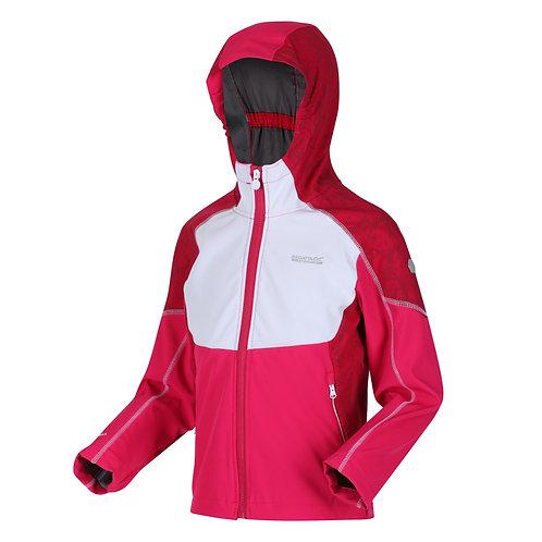 Softshell-Jacke mit Kapuze für Kinder pink
