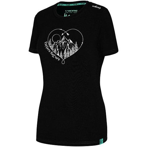Viking Bamboo Light T-Shirt Damen schwarz