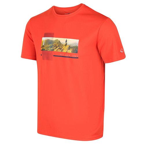 leichtes Print Funktion-Shirt für Herren orange