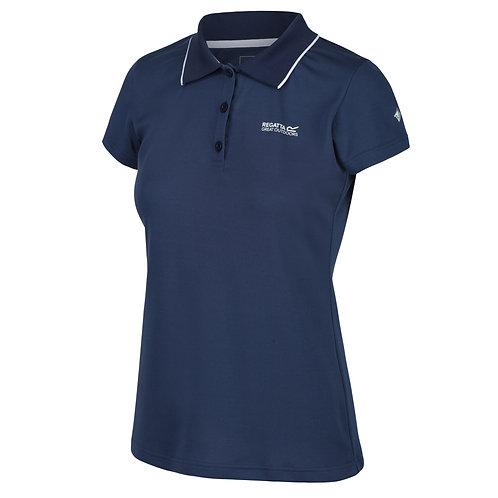Funktions Poloshirt für Damen blau