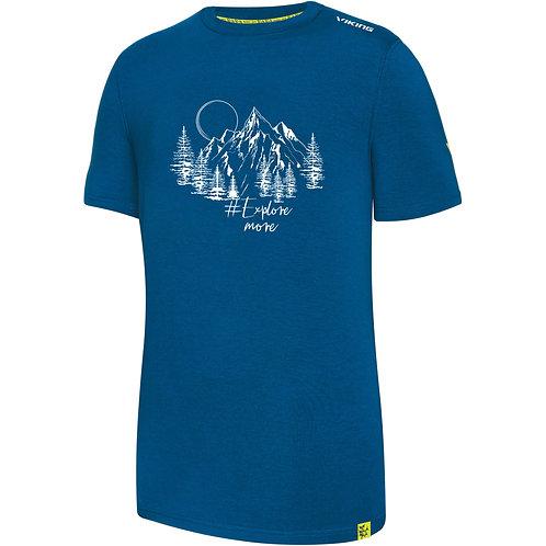 Viking Bamboo Light T-Shirt Herren blau