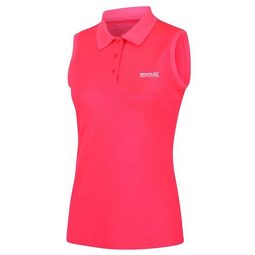 Ärmelloses Poloshirt für Damen pink