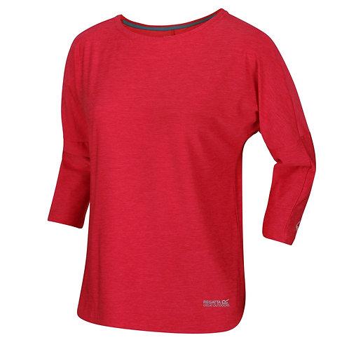 Funktions T-Shirt mit 3/4-Arm für Damen rosa
