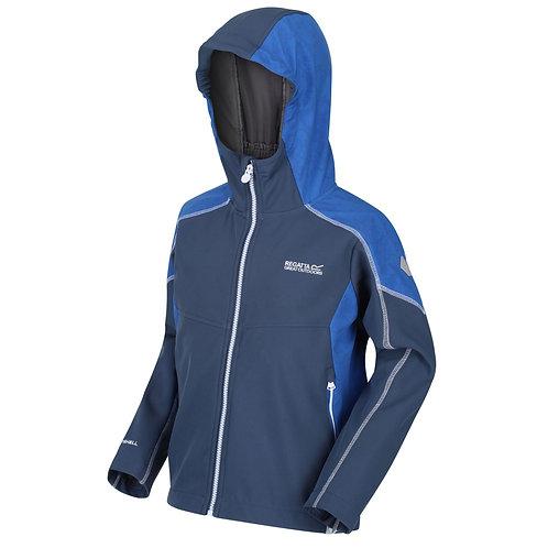 Softshell-Jacke mit Kapuze für Kinder blau