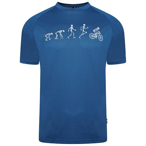 Funktion Shirt mit Print für Herren blau