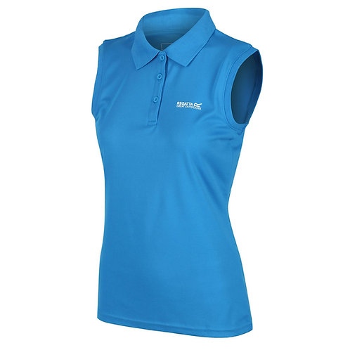 Ärmelloses Poloshirt für Damen blau