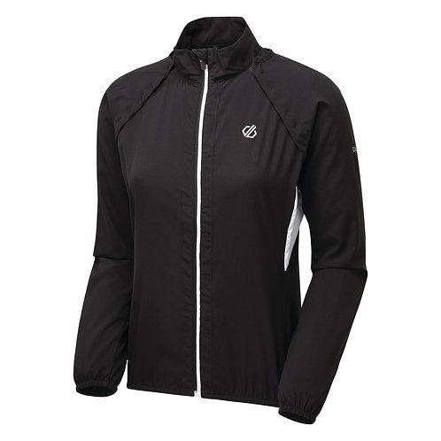 Leichte Windshell-Jacke mit abnehmbaren Ärmel für Damen schwarz