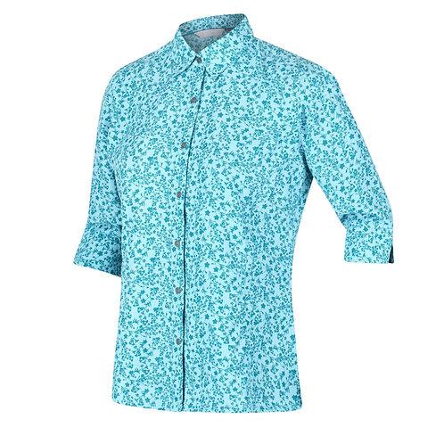 3/4-langes Shirt/ Bluse für Damen blau