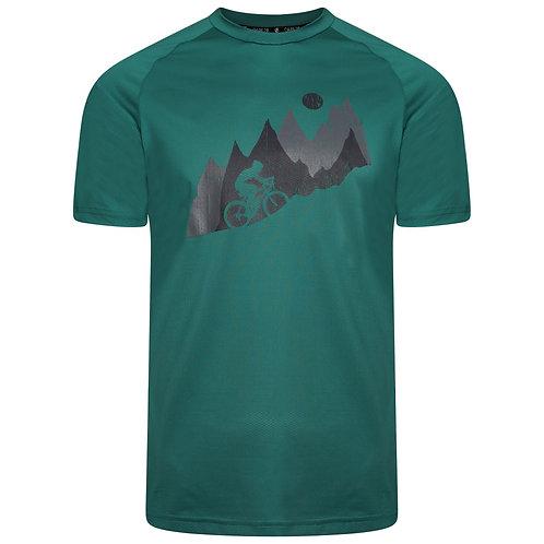 Funktion Shirt mit Print für Herren grün