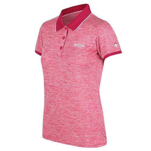 Funktions Poloshirt für Damen rosa