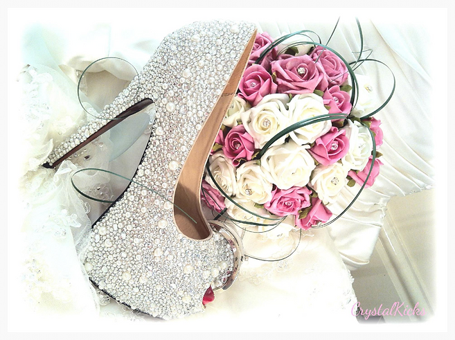 crystal bridal / wedding shoes