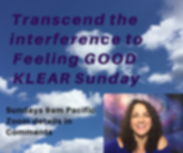 KLEAR Sunday transcend the  interference