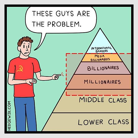 lefties think corporations are problem b