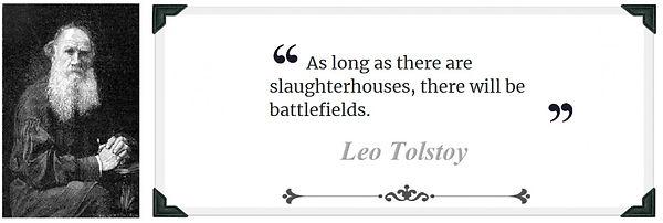 tolstoy quote slaughterhouses battlefiel