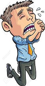 29673550-cartoon-office-worker-begging-f