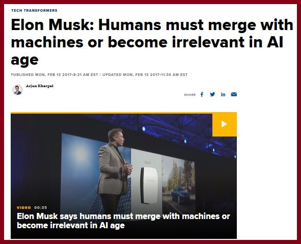 elon musk merge with ai or become irrele