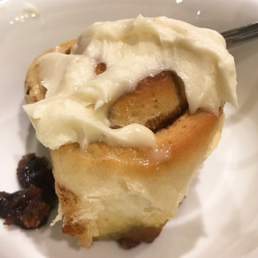 Homemade Cinnamon Rolls with Cream Cheese Frosting by Gena Bessire
