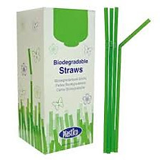 Bio Straw, Green, Bendy