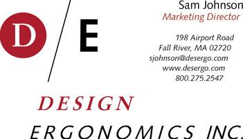 Design Ergonomics Business Card