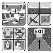 Airline Flight Safety Card