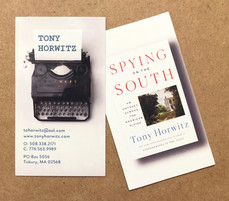Business card for Tony Horwitz