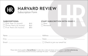 Harvard Review Subscription Form