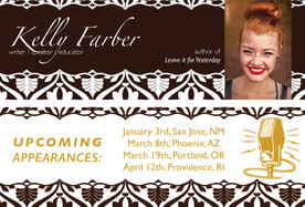 Bookmark to Promote Kelly Farber