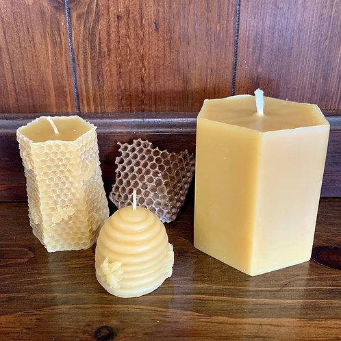 Honeybee Beeswax Candles
