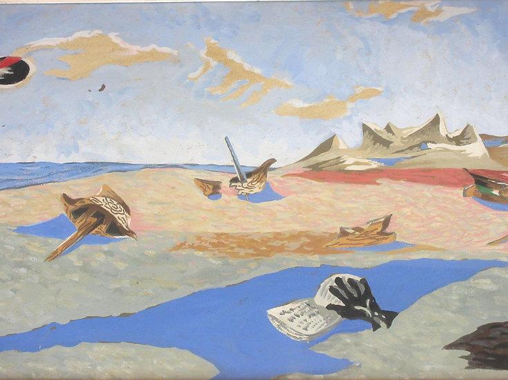Jean Lurçat(1892-1966). Apocalypse des Mal-assis. Gouache signée.