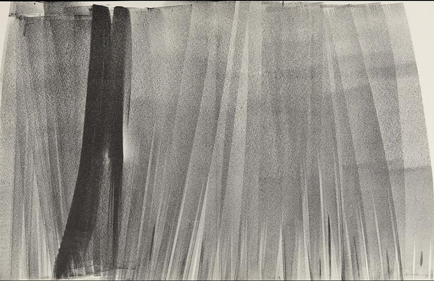 Hans Hartung(1904-1989) Lithographie signée et numérotée.